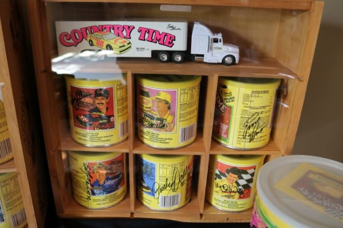Autographed Country Time Cans