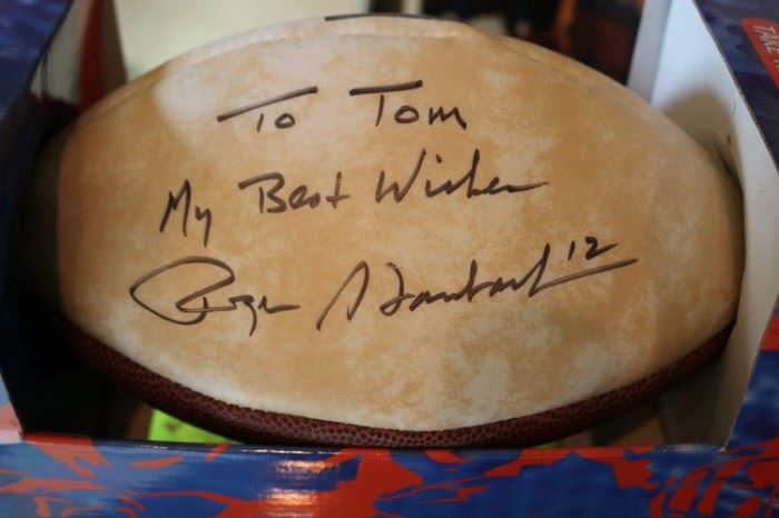 Roger Staubach Signed Football Dallas Cowboys