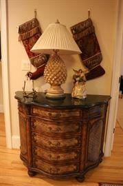 Marble top Bambay Chest of Drawers
