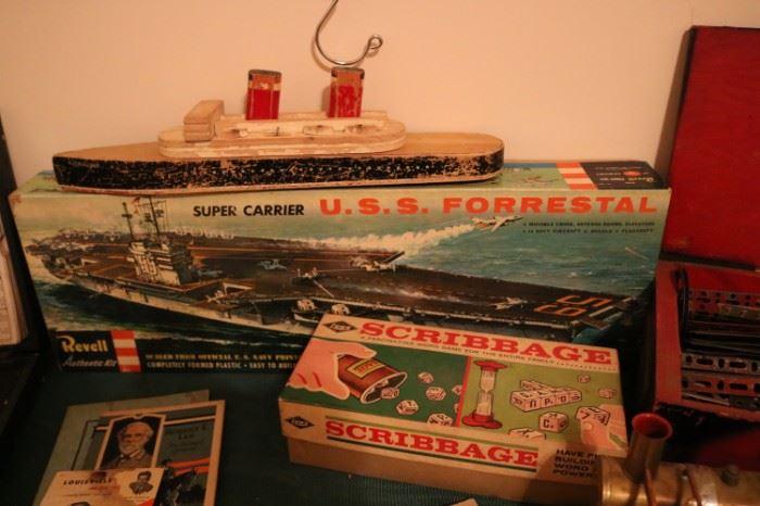USS Forrestal Revel  Vintage Toy