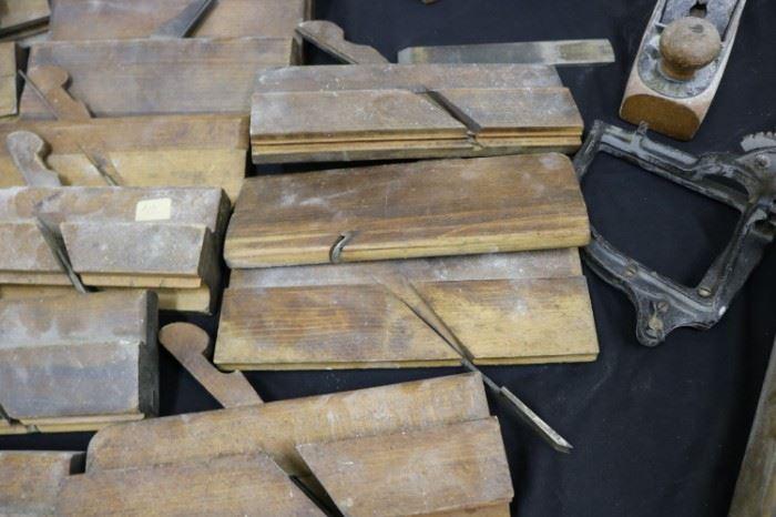 Antique carpenter's Woodworking Tools