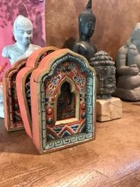 Tibetan and Cambodian statues
