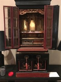 Beautiful Butsudan- black lacquer ( a shrine commonly found in Buddhist cultures)