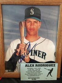 Signed Alex Rodriguez