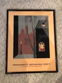 Massachusetts Historical Society Framed Poster