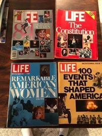 Life Magazine collection...Life Magazine January 1985: The Year in Pictures 1984 (122518)... Life Magazine The Constitution... Remarkable American Women...100 Events that shaped America