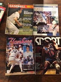Yankees and Baseball 1971 magazines