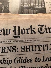 Apollo 15 Moon Walk - Ride - Rock Music Concert - 1971 New York Times Newspaper New York times 4/15/81