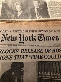 New York Times release of hostages 1/20/1981