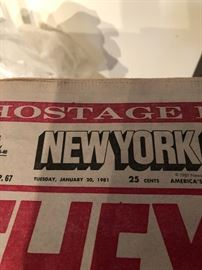 New York Post They're Free Tuesday, January 20, 1981