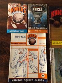 New York Knicks Madison Square Garden 1972-73, New York Knicks World Champions 1973-74, New York Knicks Souvenir Program 1966-67
