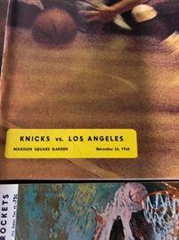 New york Knicks Vs Los Angeles November 24, 1968 Program