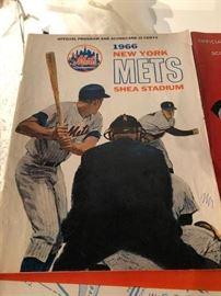 1966 New York Mets Shea Stadium Official Program & Scorecard