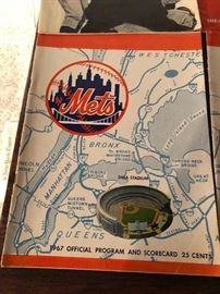 1967 New York Mets Official Program & Scorecard