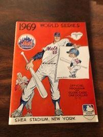 1969 mets world series program