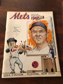 1968 mets Official Yearbook
