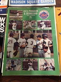1973 New York Mets 1973 Program & Scorecard