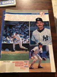 Yankees Wade Boggs Scorebook and Souvenir Program