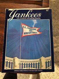 1982 Yankees Scorebook and Souvenir Program