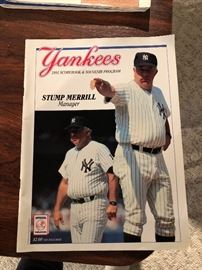 1981 Yankees Scorebook and Souvenir Program Stump Merrill