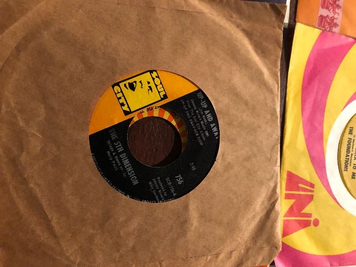 The 5th Dimension Up Up and Away on Soul city record label 45RPM