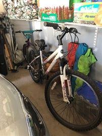 Bicycles: Schwinn Crisscross, Trek 820, Trek Mountain Lion, Nishiki bicycle