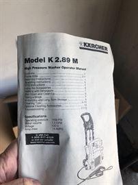 Karcher Power Washer Model K 2.89M