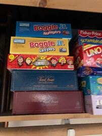 Boggle Numbers, Boggle Letters, Family Feud Survey Says Board Game, Trivial Pursuit games