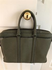 coach Lap top bag in leather