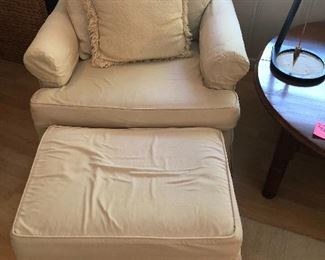 Chair with ottoman slip cover)