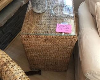 Thick wicker tables from Sante Fe NM