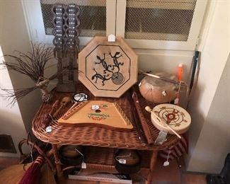 Collectible Southwestern and other countires artifacts and hand made items throughout the home!