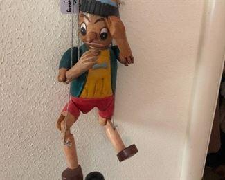 Collectible Pinnochio marionette