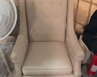 Linen upholstered chair