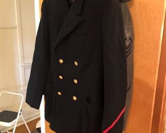 Navy and Army uniforms