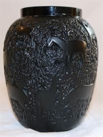 Lalique Biches Vase