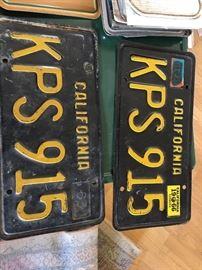 Vintage plates 1963-1969,