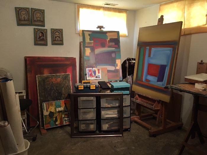 Original art and supplies