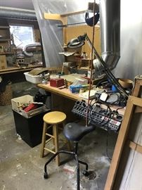 Tools, work bench, seating