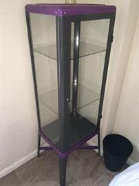 glass display metal frame