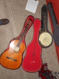 andalusian guitar and Gibson Banjo