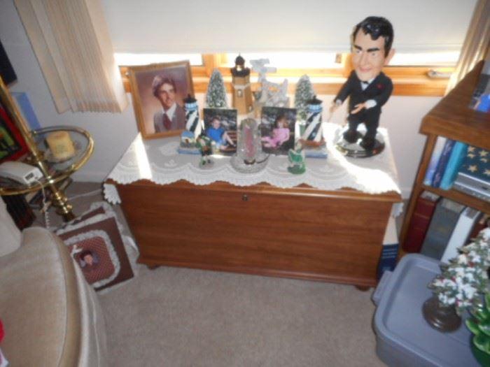 Dean Martin figurine and Cedar Chest