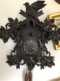 1980's Czech Cuckoo Clock, Black Forest