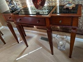 $275  Cherry with granite top sofa table
