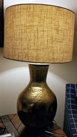 Brass Hammered Lamp