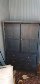 Wooden dresser and cabinet for a TV