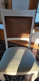 Dining room chair with excellent condition wicker backs