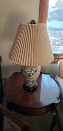 Lamp and vintage table