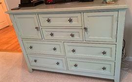 Green Dresser with Starfish Pulls