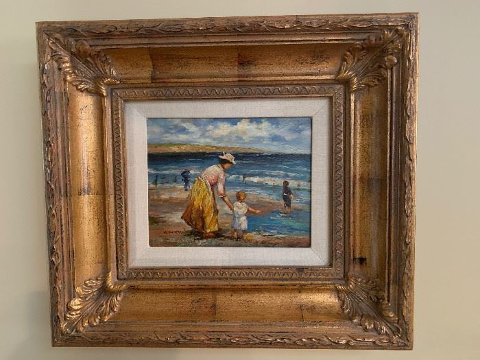 Fine Art Painting- At the beach  (Oil)
